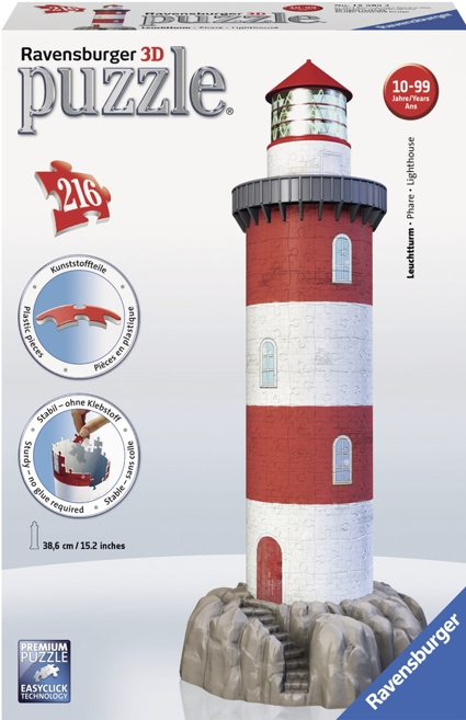 Lighthouse 3d Jigsaw Puzzle New For 2014 Build Your Own 216 Piece 3d