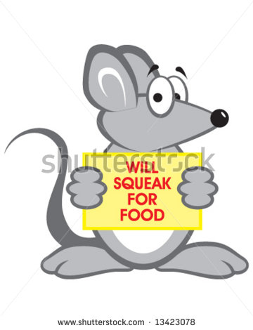 Mouse In Poor Economy   Will Squeak For Food   13423078   Shutterstock