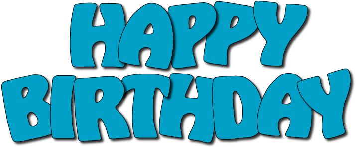 Clip Art Happy Birthday Clip Art Images happy 18 birthday clipart kid title birthdaytitleblue jpg