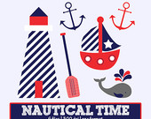 To Nautical Clip Art    Commercial Use    Sailer Clipart    Lighthouse