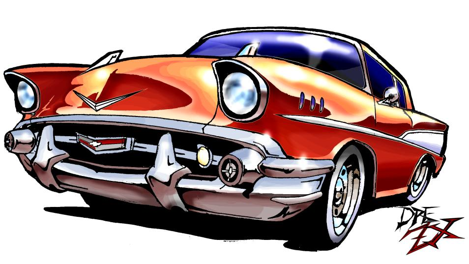 57 Chevy By Drezx Clipart
