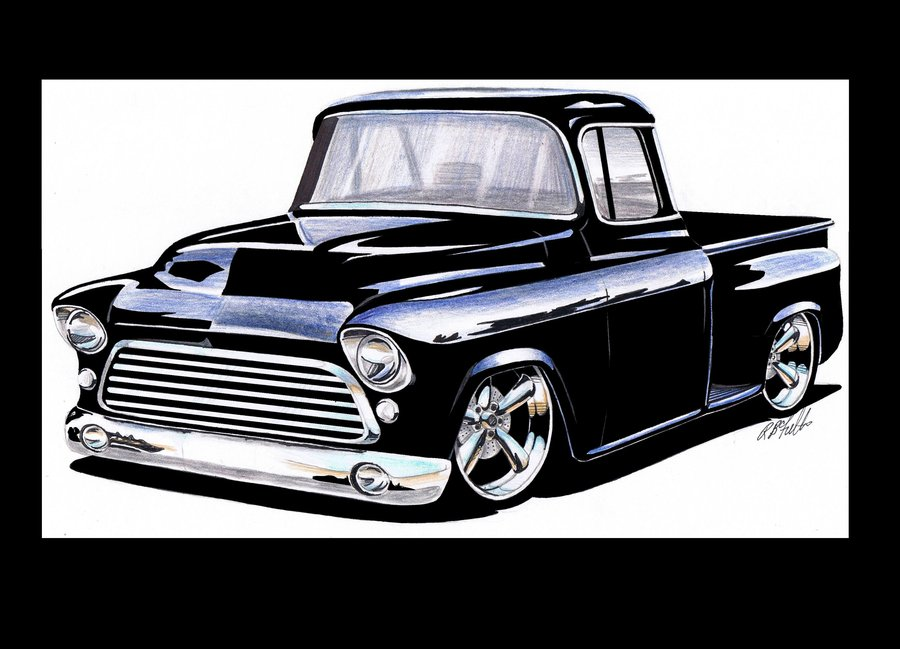 57 Chevy Truck Clipart