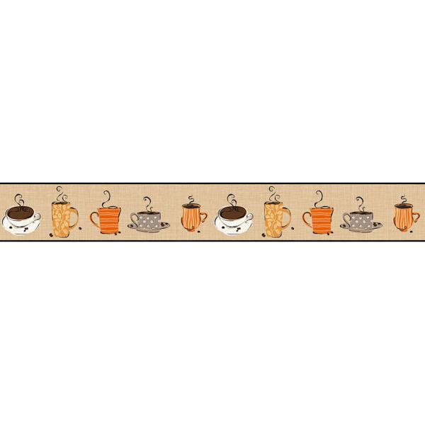 Beige Coffee Border   Wall Sticker Outlet