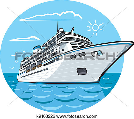 Carnival Cruise Ship Clip Art Vector Hi Detailed Cruise Ship