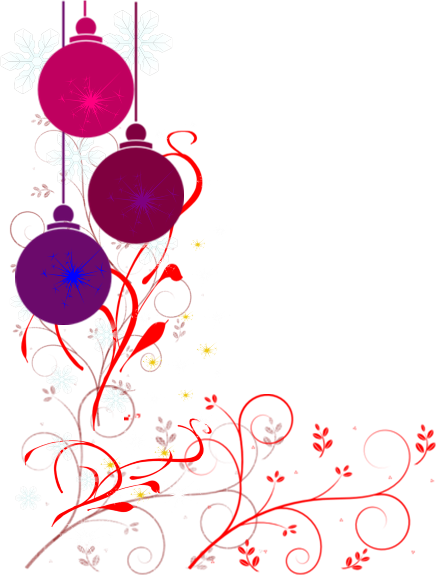 Christmas ornament border clipart suggest