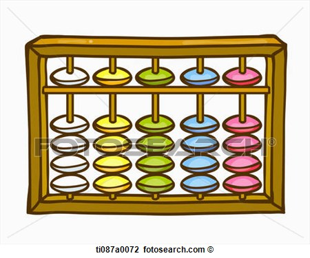 Clip Art   A Colorful Abacus   Fotosearch   Search Clipart