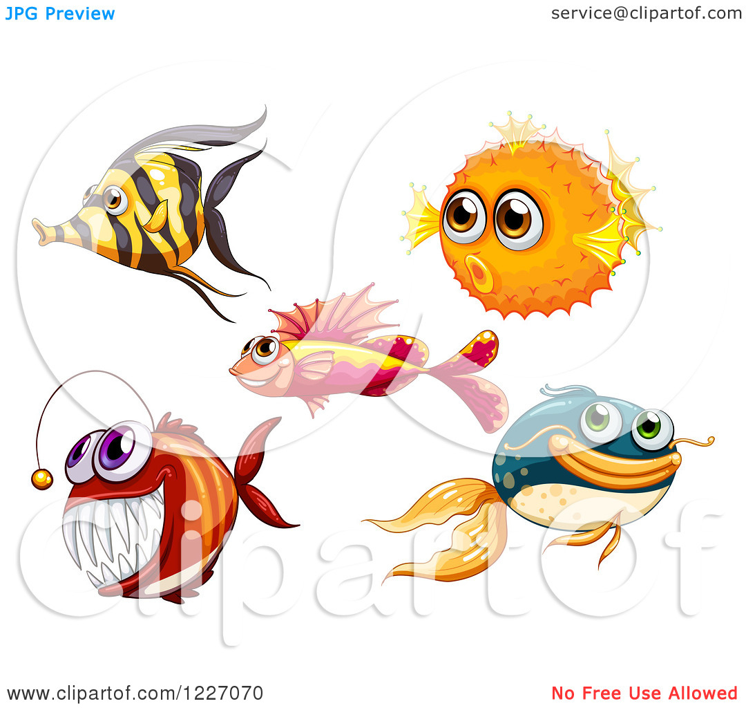 Clipart Of Marine Fish   Royalty Free Vector Illustration By Colematt