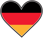 German Clipart 0030 0902 2320 4448 Clip Art Graphic Of A German Heart