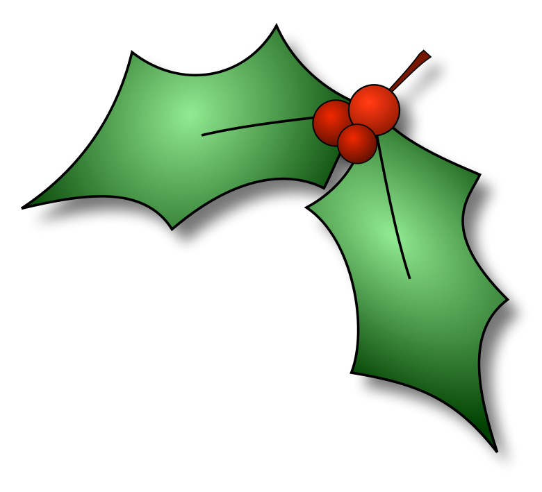 Holly Corner Large   Http   Www Wpclipart Com Holiday Christmas Holly