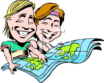 Clip Art Cartoon Map Clipart - Clipart Kid