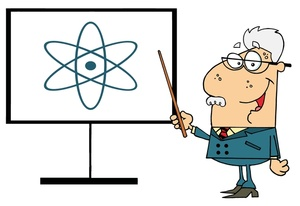 Physics Teacher Clipart Image  A Chemistry Professor Pointing To A