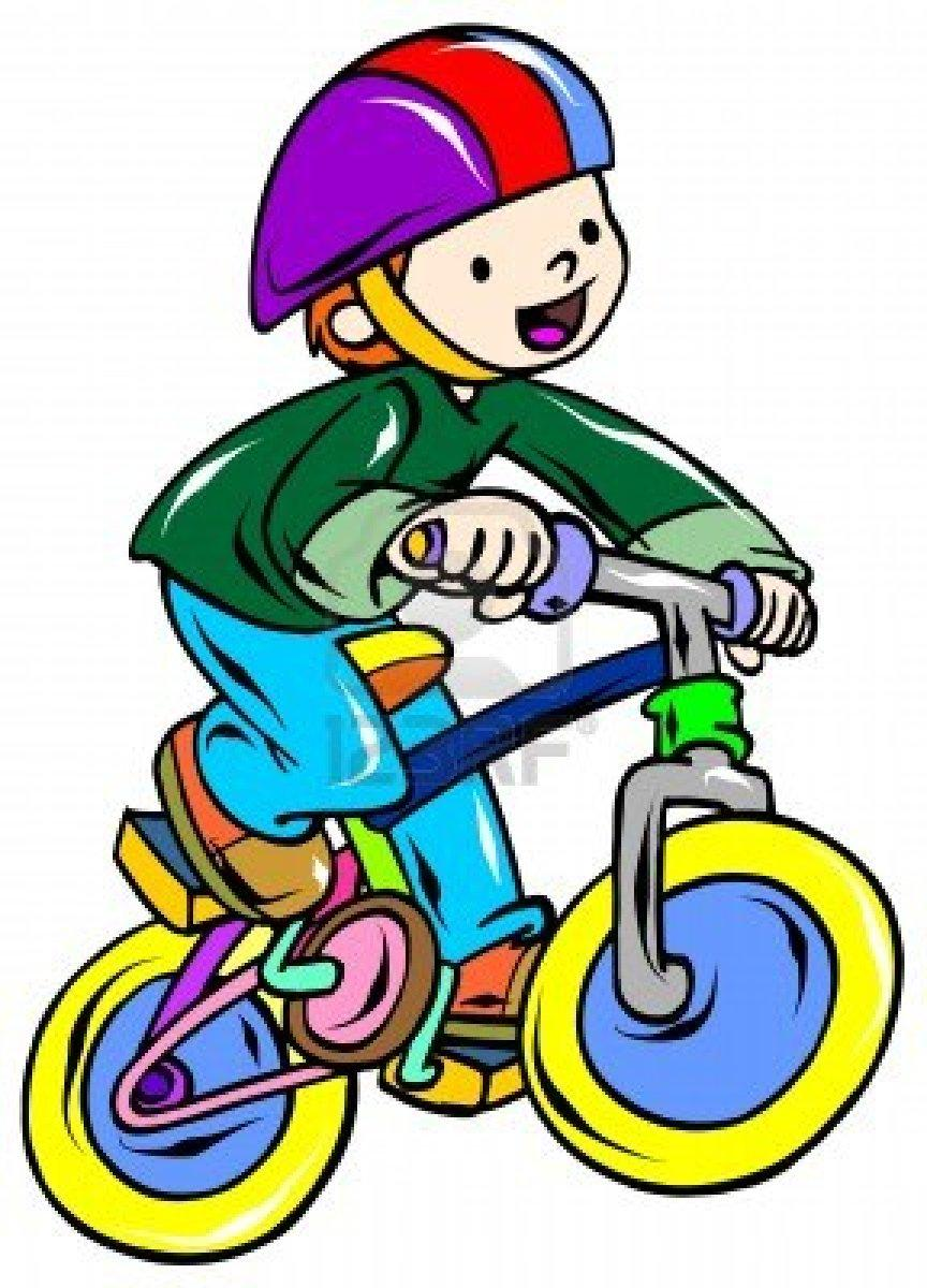 Preview Of Kids Riding Bikes Clipart 36416 Hd Wallpaper Background