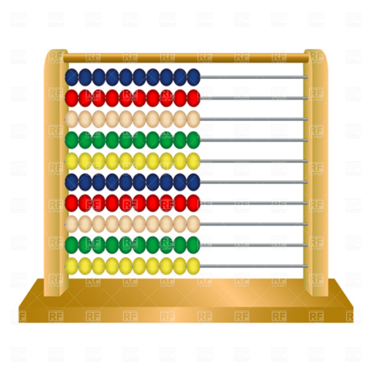 Wooden Abacus Against White Background Abstract Vector Art