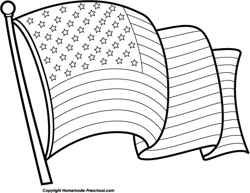 free black and white american flag clip art - photo #17