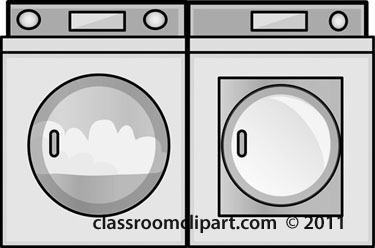 And White Clipart  Clothes Washer And Dryer Gray   Classroom Clipart