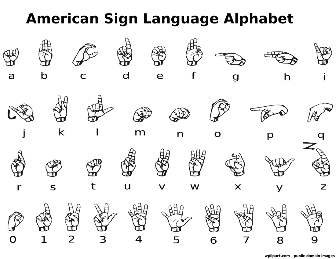 Asl Alphabet Label    Sign Language Asl Alphabet Label Png Html