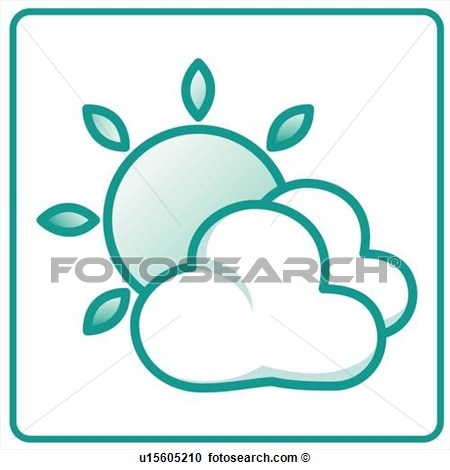 Clouds Icons Weather Rising Weather Forecast Bright Icon View