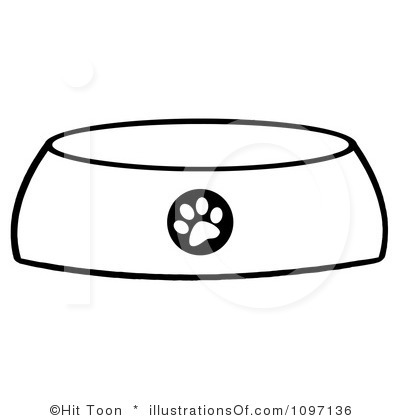 Dog Bone In Bowl Clipart Royalty Free Dog Bowl Clipart Illustration
