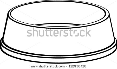Dog Bowl Clipart Stock Vector Dog Bowl 122930428 Jpg