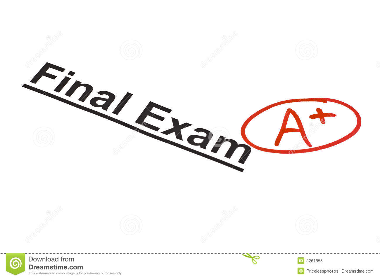 Final Exam Marked With A  Royalty Free Stock Photo   Image  8261855