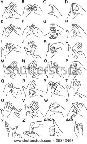 Friend Sign Language Clipart Sign Language And The Alphabet