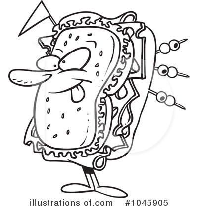 Free sandwich shop clipart clipart suggest for Sandwich coloring page