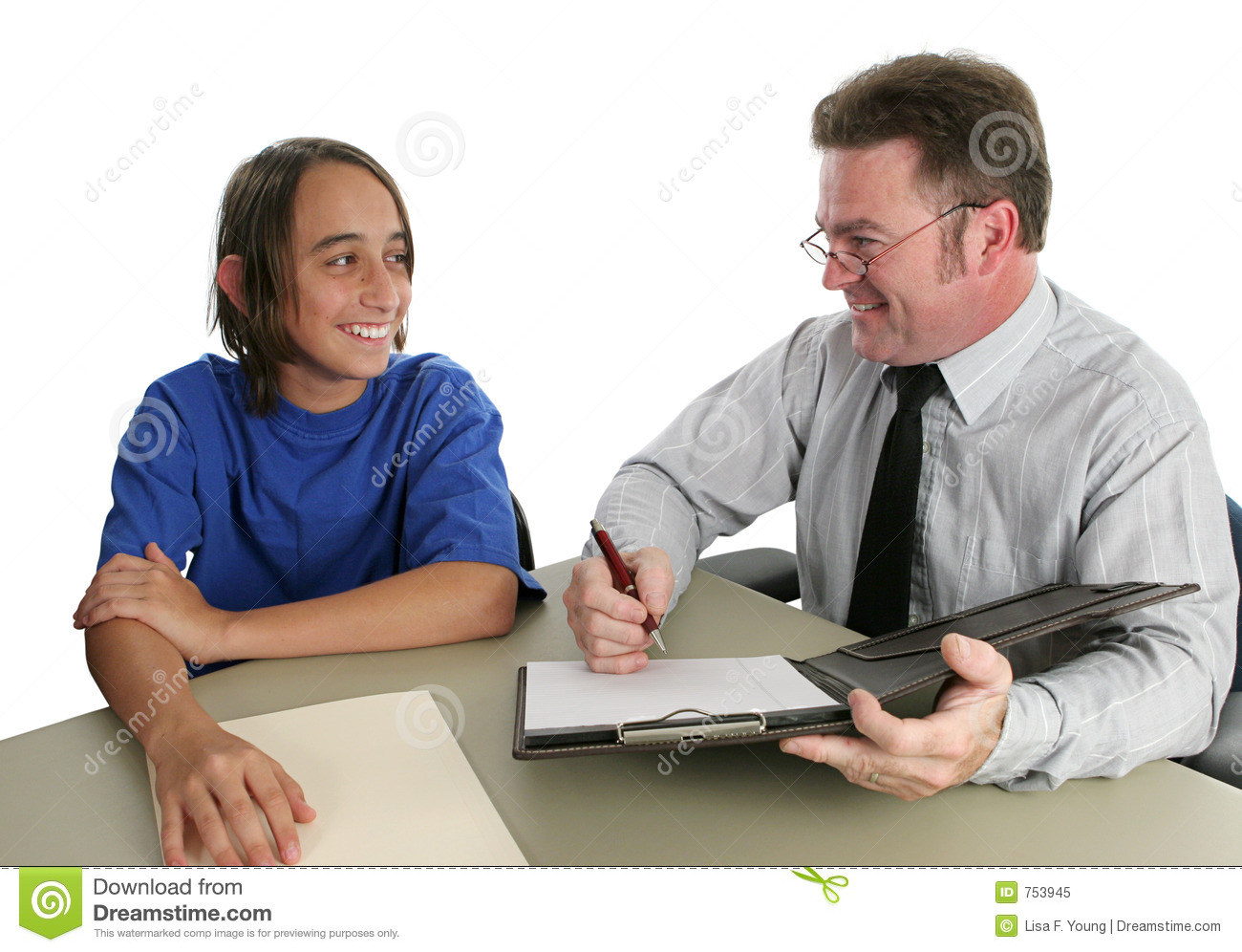 Positive Student Teacher Conference Royalty Free Stock Photo   Image