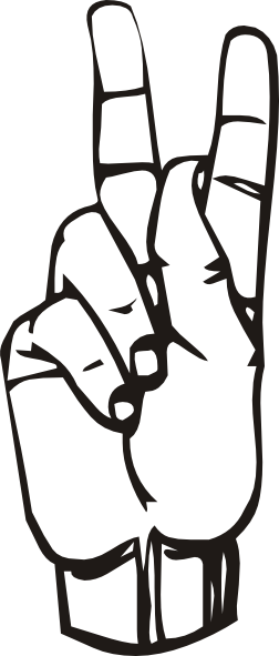 Sign Language K Clip Art