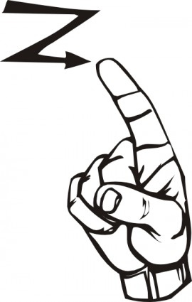 Sign Language Z Clip Art Vector Clip Art   Free Vector For Free