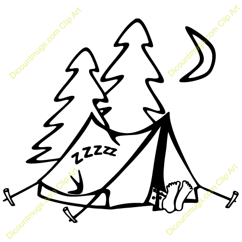 Sleeping Outdoors Clip Art