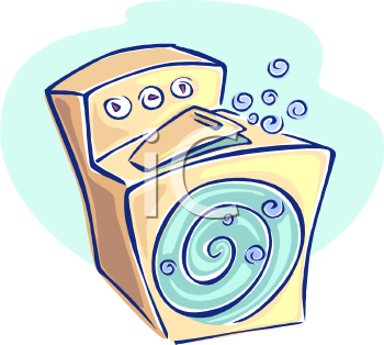 Stylized Top Loading Washing Machine   Royalty Free Clipart Picture