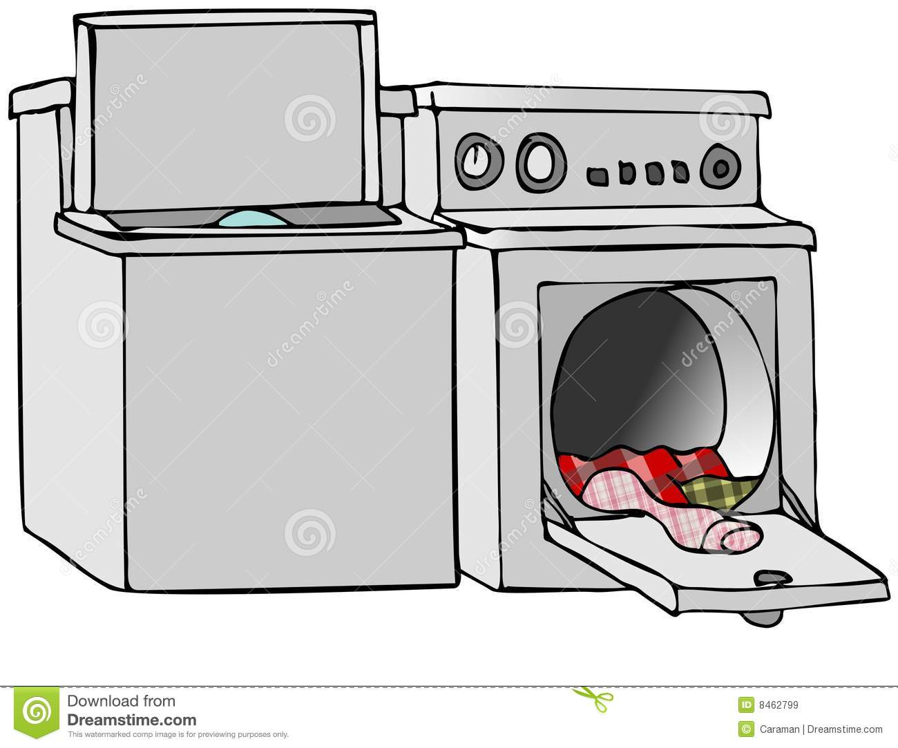 This Illustration Depicts A Washing Machine And Clothes Dryer With