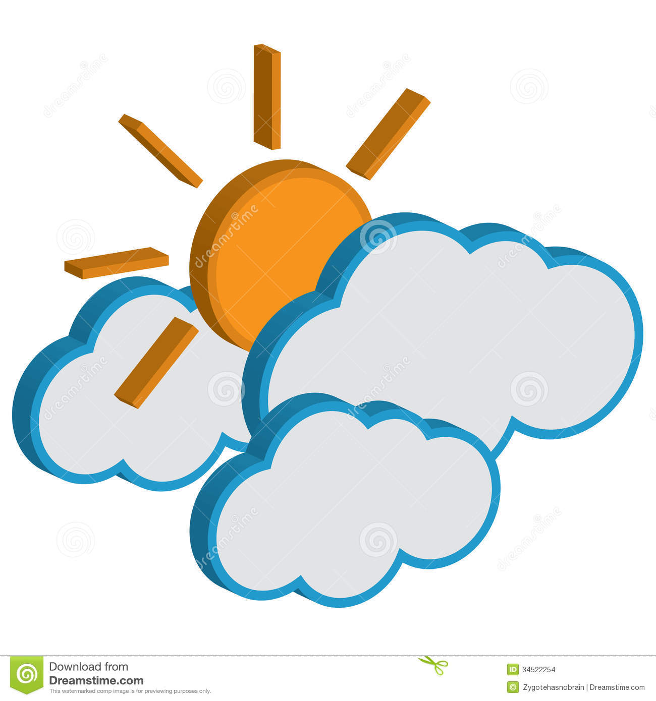 Weekly Weather Forecast Clipart Cloud With Sunny Weather