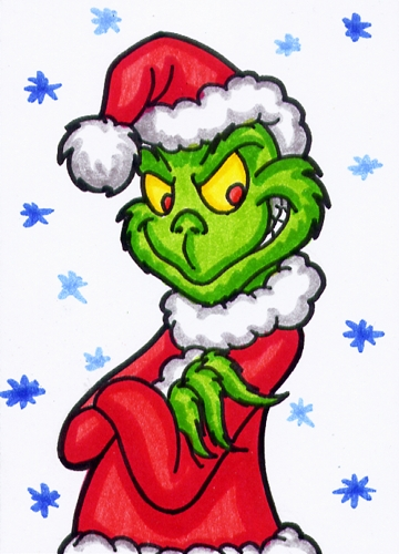 Aceo   Grinch By Goldy  Gry On Deviantart