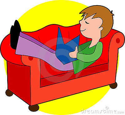 Clip Art of Boy and Girl relaxing k11835687 - Search ... |Kids Relax Clipart