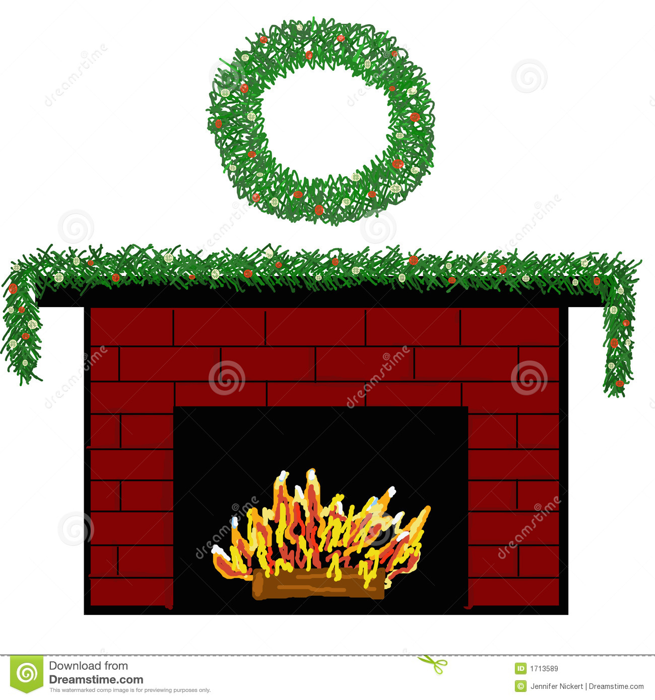 Brick Fireplace Clipart Fireplace Fire Clipart Holiday Fireplace
