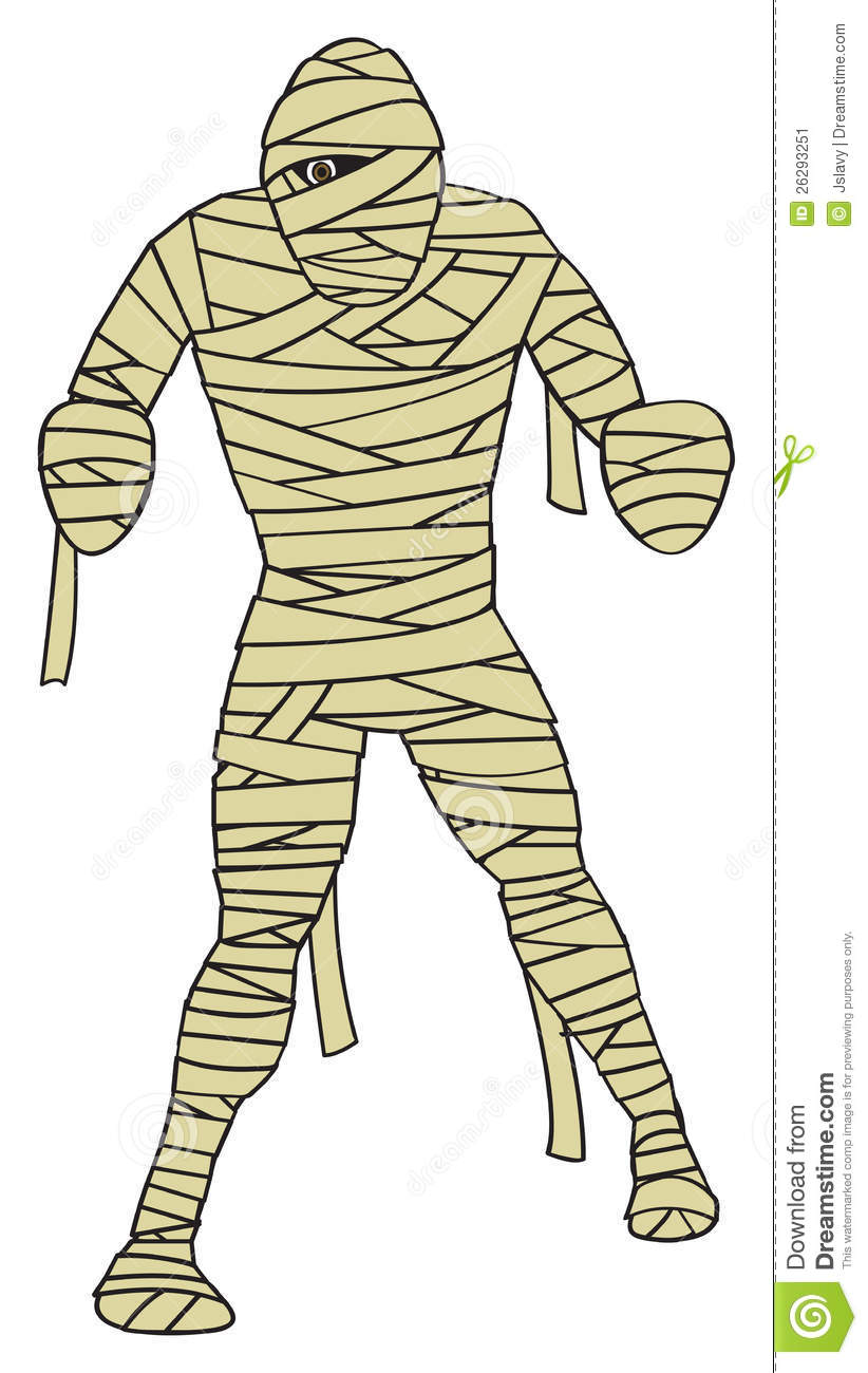 Cartoon Depiction Of The Classic Egyptian Mummy Monster