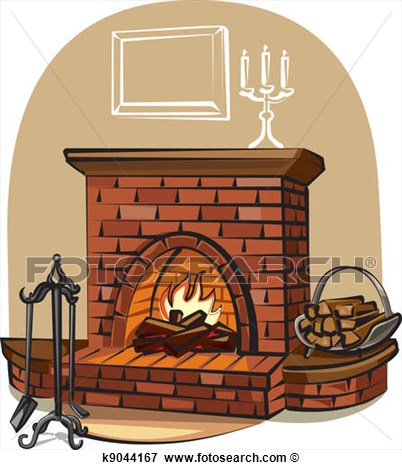 Clip Art   Fireplace   Fotosearch   Search Clipart Illustration