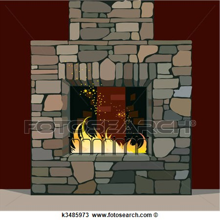 Clipart   Fireplace  Fotosearch   Search Clip Art Illustration Murals