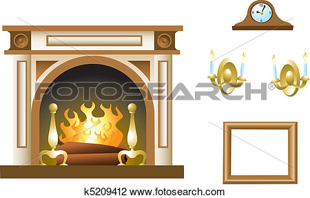 Clipart   Fireplace Mantel   Fotosearch   Search Clip Art