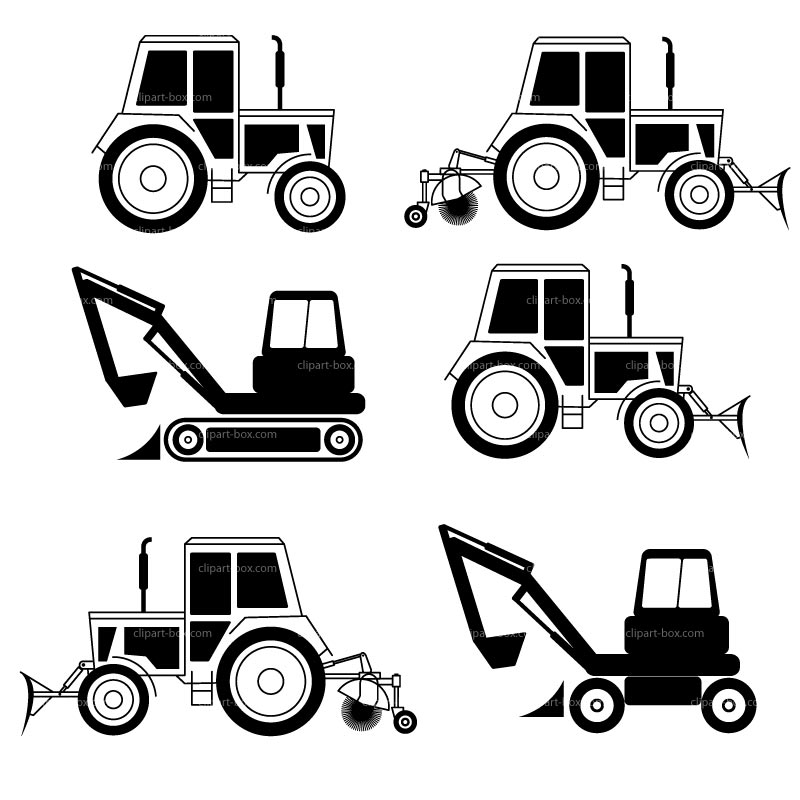 Clipart Tractors Shape   Royalty Free Vector Design