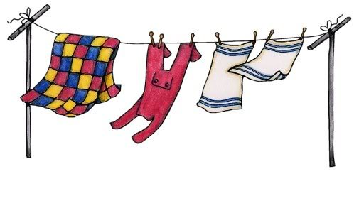 clipart hanging clothes - photo #34