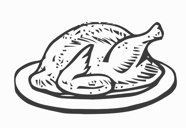 Cooked fish clipart black and white - photo#12