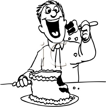 Eating Cake Clipart Clipart Suggest