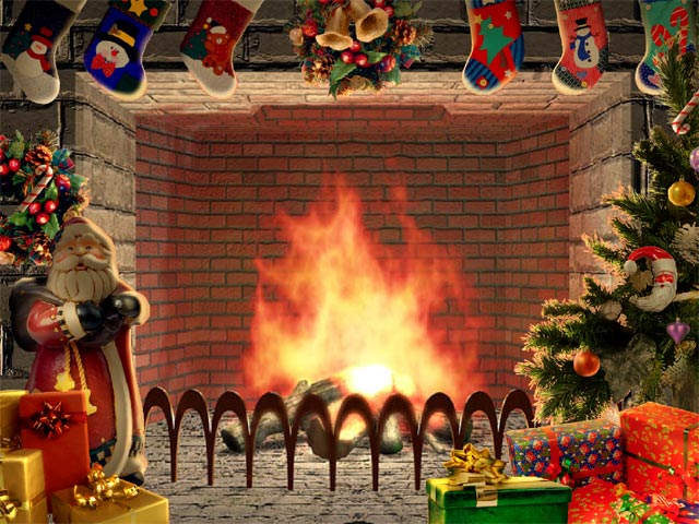 Desktop Nice And Cosy With Christmas Living 3d Fireplace Screensaver