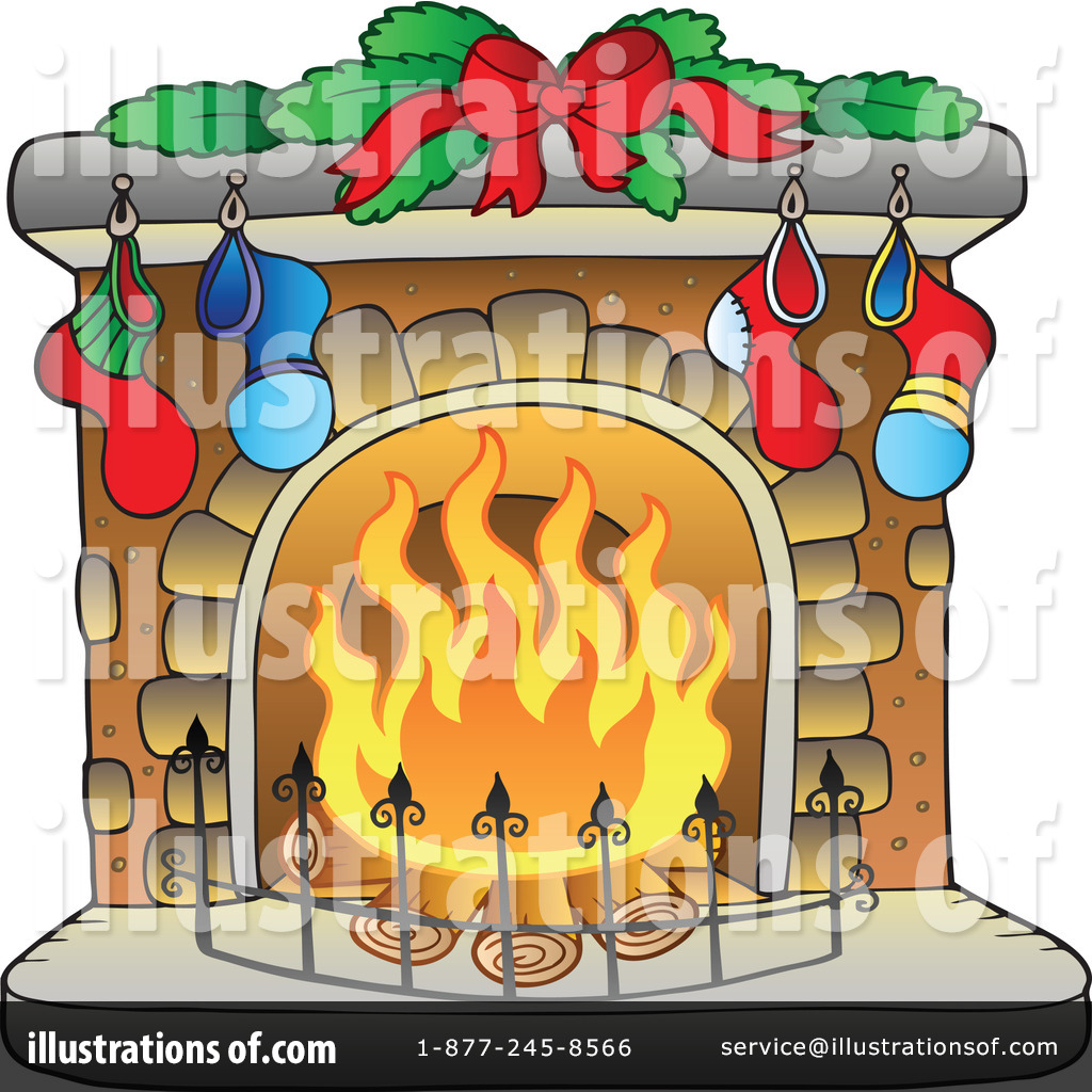 Fireplace Clipart  1050805 By Visekart   Royalty Free  Rf  Stock