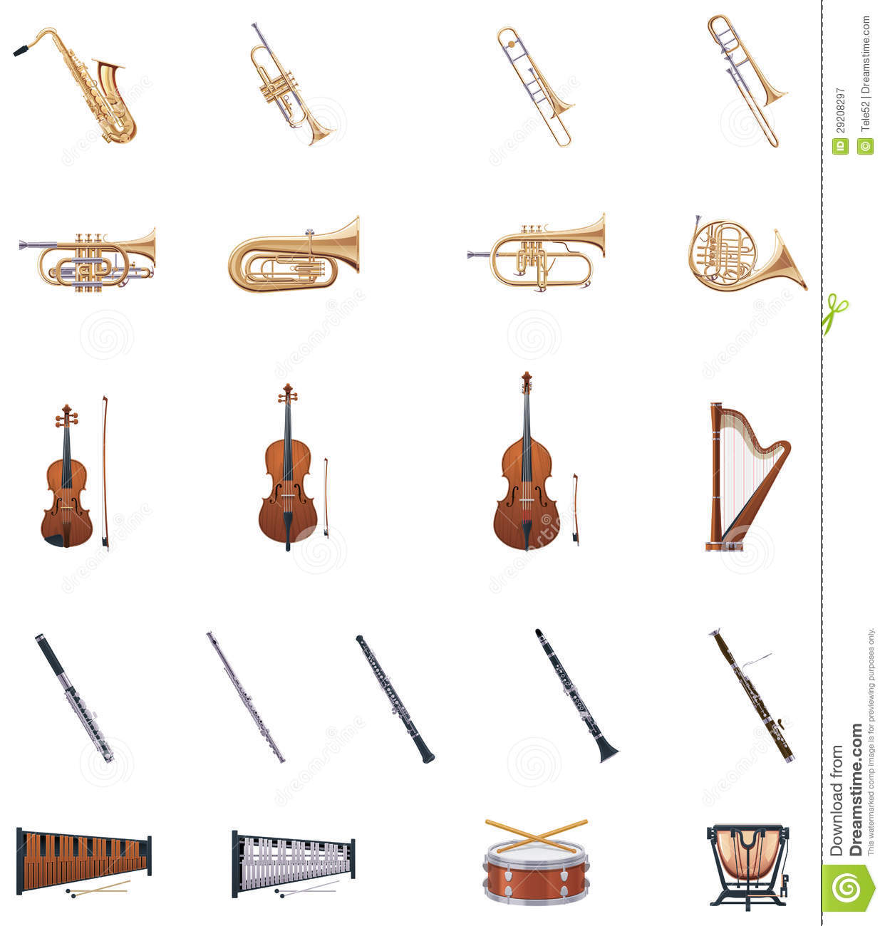 String Orchestra Instruments Clipart Vector Instruments Of The