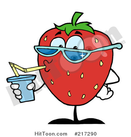 Thirsty Clipart Thirsty Strawberry Drinking