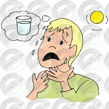 Thirsty Picture For Classroom   Therapy Use   Great Thirsty Clipart