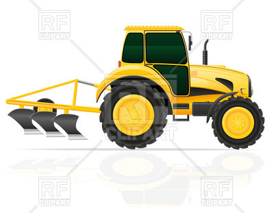 Tractor With Plow 46950 Download Royalty Free Vector Clipart  Eps
